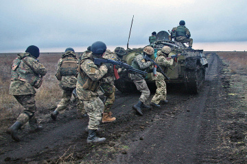 Invaders open fire on Ukrainian positions near Luhanske and Novohnativka