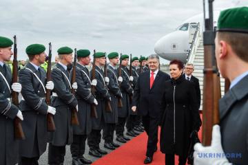 Poroshenko comienza su visita a Alemania