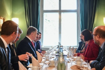 Poroshenko, Alliance 90/The Greens members discuss  security situation in Donbas