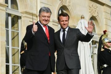 Poroshenko ha llegado al Palacio del Elíseo
