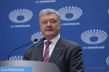Petro Poroszenko przyjechał na Stadion Olimpijski WIDEO