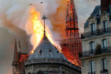 Ukrainian diplomats express support for France over Notre Dame fire