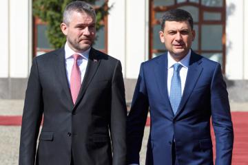 Volodymyr Hroisman se rend en Slovaquie