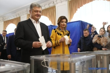 Petro Poroshenko votes in presidential elections. Photos, Video
