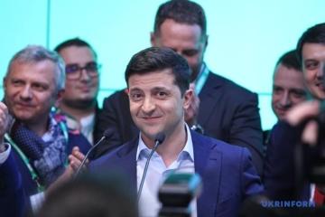 Wolodymyr Selenskyij dankt den Wählern – Fotos
