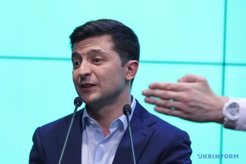 Zelensky says Poroshenko congratulated him on election victory