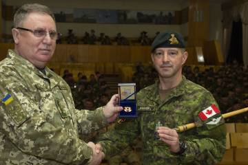 Vincent Gagnon, Sergeant-Major of Operation UNIFIER, Canada's military training mission to Ukraine