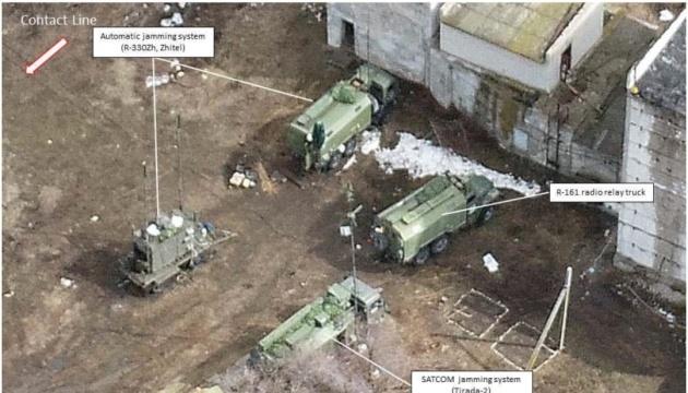 Україна показала російські системи РЕБ на Донбасі, зафіксовані дроном ОБСЄ