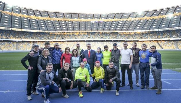 Порошенко посетил тренировку сборной