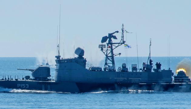 """Катер """"Прилуки"""" і фрегат НАТО провели спільні стрільби у Чорному морі"""