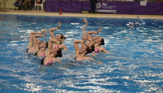 Selección ucraniana de natación sincronizada gana dos oros en la etapa de la Serie Mundial en Grecia