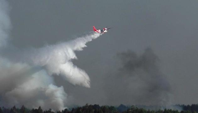 На Чернігівщині третій день горить ландшафтний парк, залучили авіацію