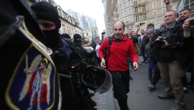 Поліція затримала двох провокаторів під офісом Зеленського