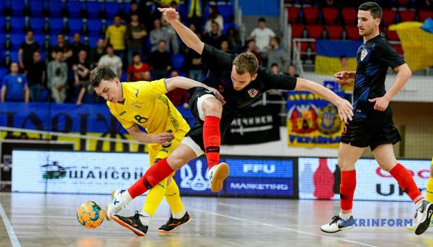 Збірна України з футзалу внічию зіграла з Хорватією в першому спарингу