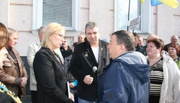 Денисова встретилась с ликвидаторами ЧАЭС