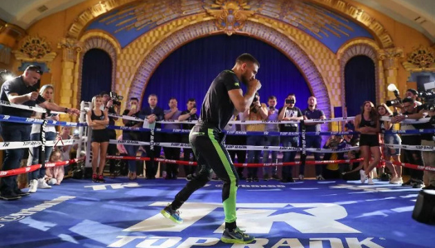 Łomaczenko i Crolla wzięli udział w otwartym treningu przed walką w Los Angeles WIDEO