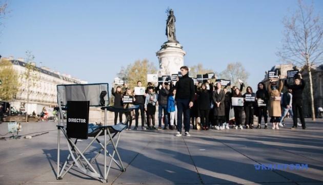 У Парижі пройшла акція на підтримку Сенцова
