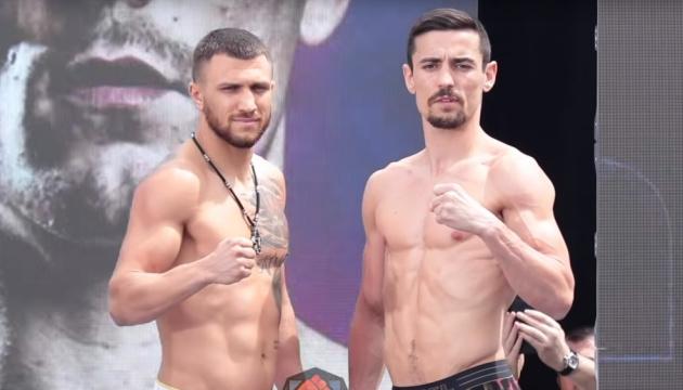 Кролла і Ломаченко провели офіційну церемонію зважування перед боєм