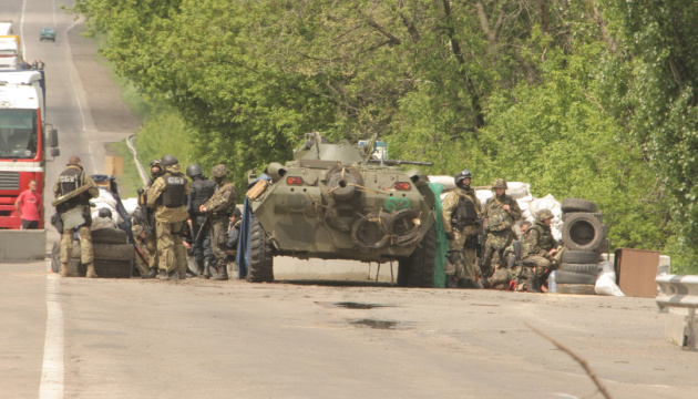 Russian-led forces launch eight attacks on Ukrainian troops in Donbas