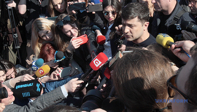Зеленський не вийде до журналістів перед дебатами - штаб