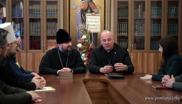 Епіфаній обговорив з американським капеланом роль священиків в армії