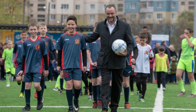 Павелко принял участие в церемонии открытия 2 новых стадионов на Днепропетровщине