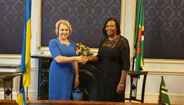 Ucrania y la Mancomunidad de Dominica establecen relaciones diplomáticas