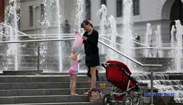 На Майдані Незалежності увімкнули фонтани