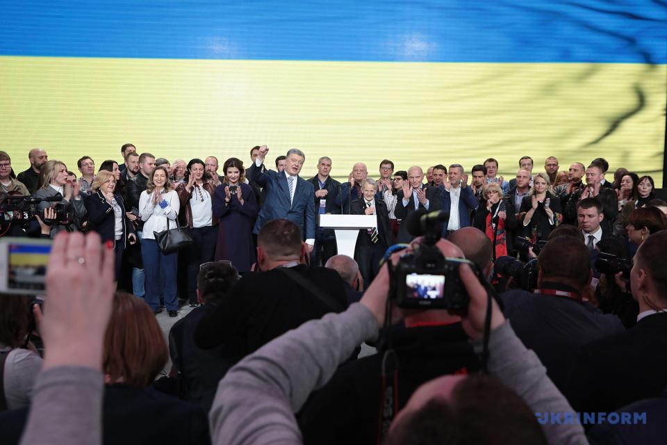Команда Петра Порошенка під час прес-конференції / Фото: Геннадій Мінченко. Укрінформ