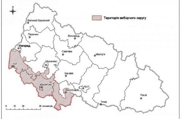Так угорці Закарпаття бачать межі свого виборчого округу
