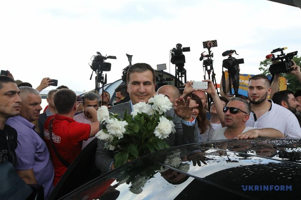 Micheil Saakaszwili wrócił na Ukrainę