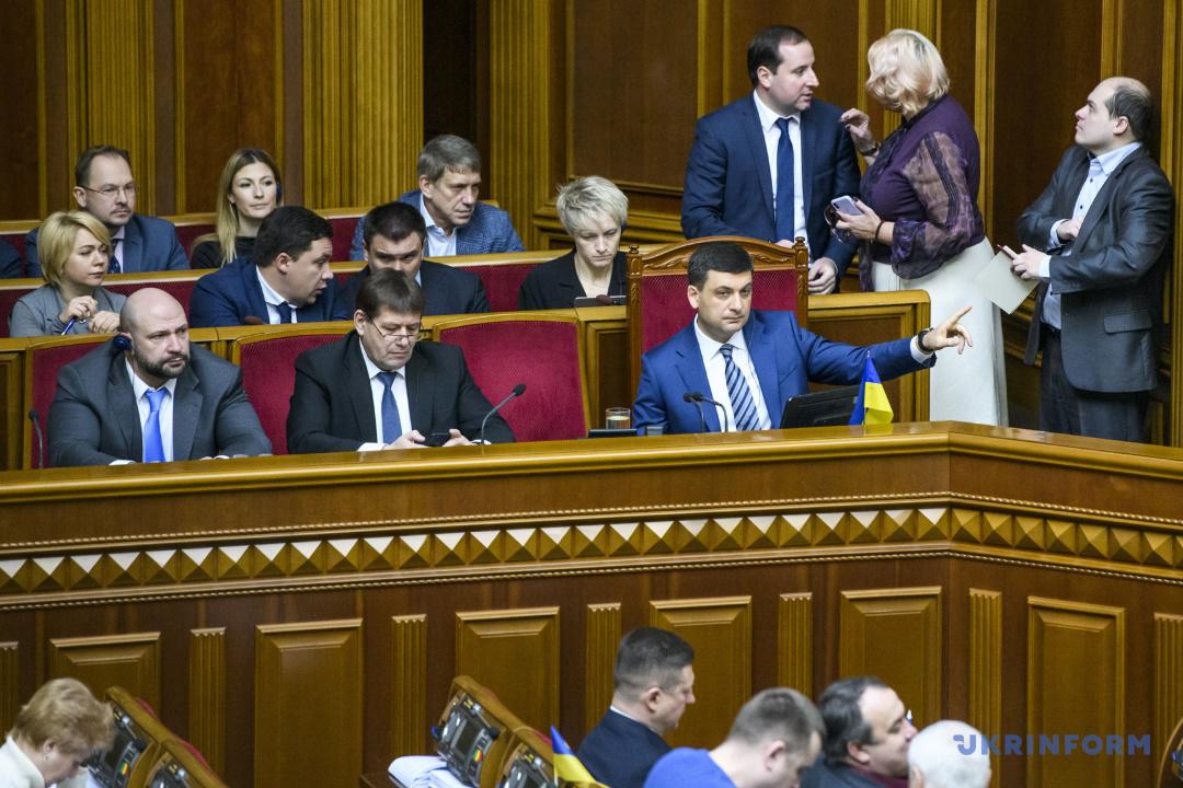 Premier w ławie rządowej podczas posiedzenia Rady Najwyższej