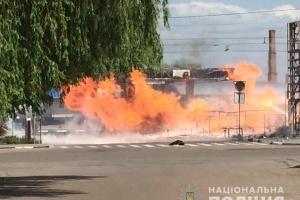 В Житомире горела АЗС, есть пострадавшие