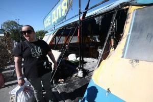 До відставки Кернеса: активісти готують відповідь на підпалення намету у Харкові