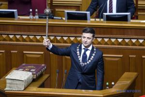 Volodymyr Zelensky entre dans les fonctions de Président de l'Ukraine