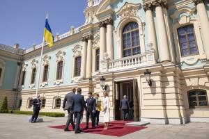 Зеленский проводит прием глав иностранных делегаций в Мариинском дворце