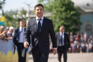 Ukrainian president holds meeting with Latvian president