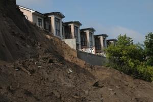 В Одессе произошел масштабный оползень