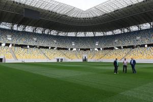 На «Арене-Львов» продемонстрировали новый газон