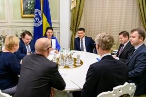 Groysman se reúne con representantes del FMI