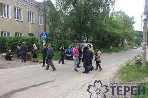 На Тернопольщине заблокировали международную автотрассу