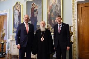 Філарет зустрівся з президентом СКУ