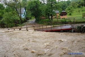 Повінь на Закарпатті: річка Турія знесла три мости й затопила півсотні будинків