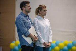 Зеленский с женой принял участие в открытии летнего лагеря ассоциации против наркотиков