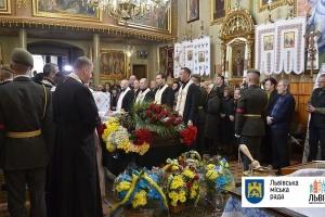 Во Львове попрощались с погибшим на Донбассе военным