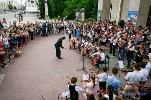 У Запоріжжі пройшов флешмоб на честь Бетховена