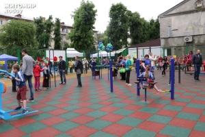 У Житомирі відкрили інклюзивний спортмайданчик