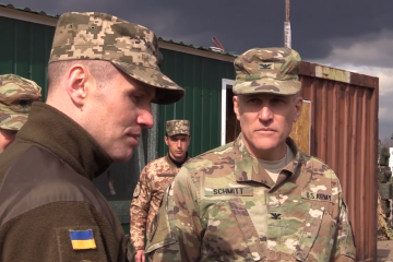 U.S. diplomats visit Joint Forces Operation area in Donbas