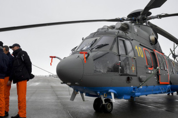 Rescuers, National Guard officers test modernized H225 Super Puma helicopters. Video