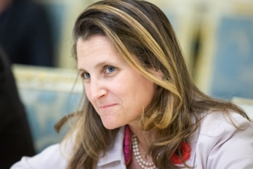 Freeland congratulates Ukraine on successful elections